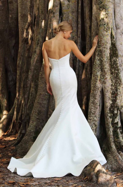 strapless fitted mermaid wedding gown