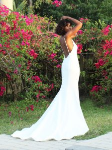 crepe wedding gown robert bullock