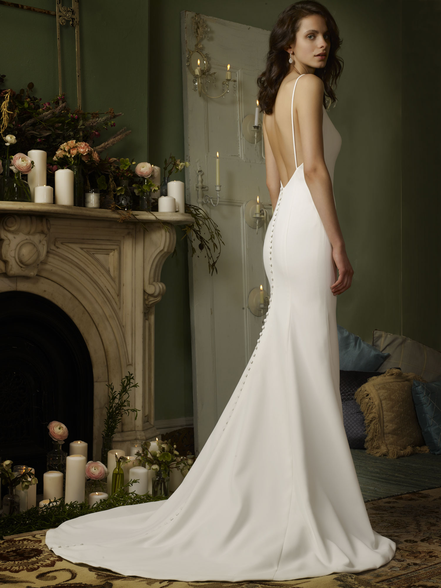four ply crepe mermaid wedding gown