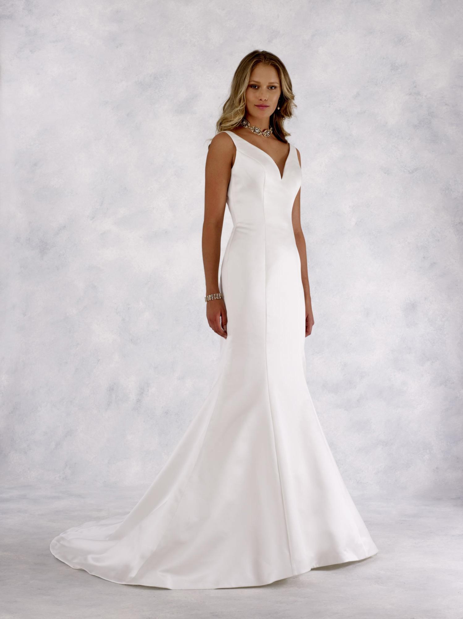 satin mermaid wedding gown