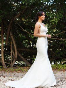 crepe mermaid wedding gown