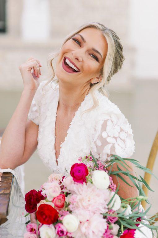 three dimensional fabric wedding gown pockets