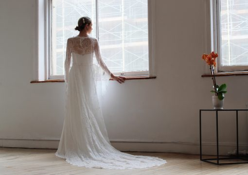 lace wedding cape accessory