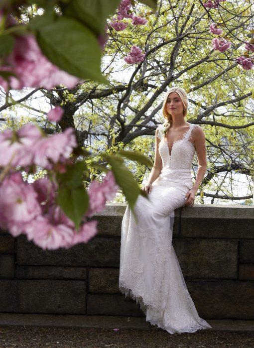 mermaid lourde lace wedding gown