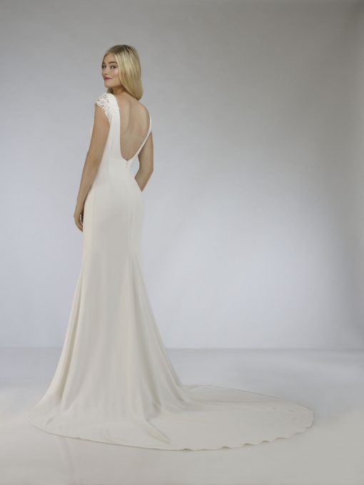 low back wedding gown
