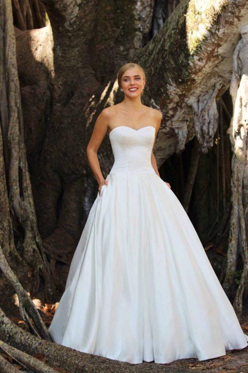 strapless wedding gown robert bullock