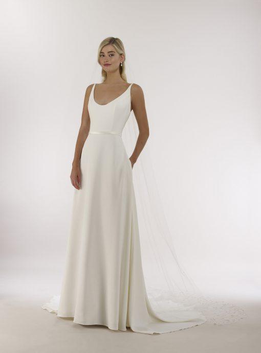 ballerina neckline wedding gown