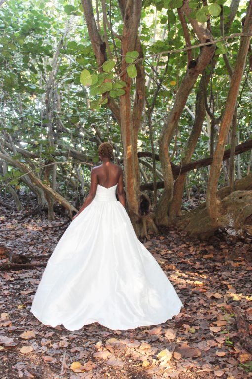 spaghetti strap full ballgown wedding dress