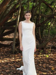 Crepe wedding gown dress