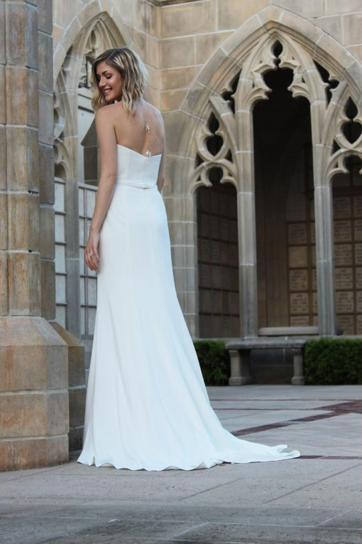 crepe mermaid wedding gown robert bullock