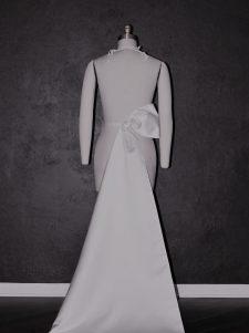 asymmetrical wedding dress bow