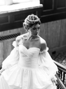 tulle lace wedding gown accessory
