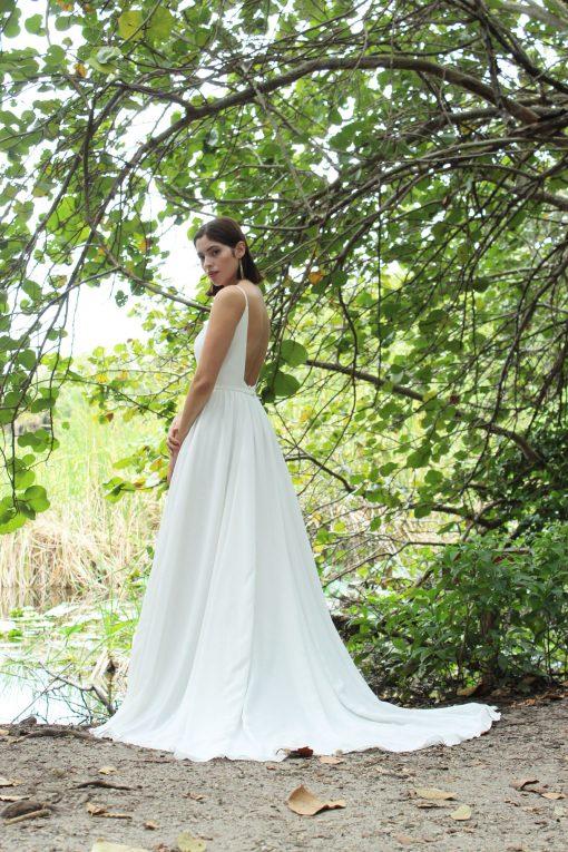 crepe wedding gown robert bullock