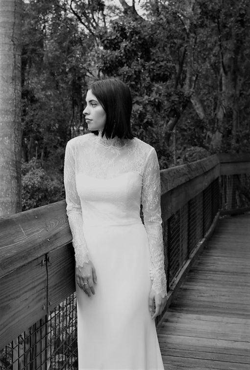 chantilly lace long sleeve wedding jacket accessory