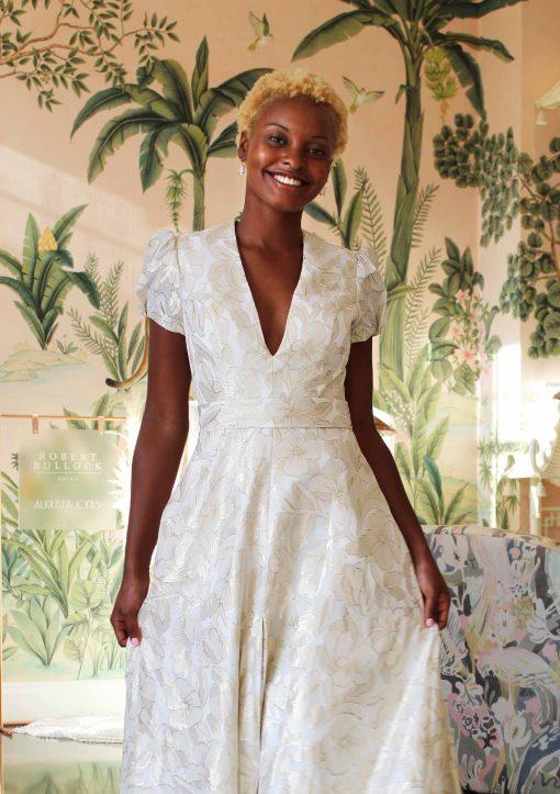 cap sleeve wedding gown