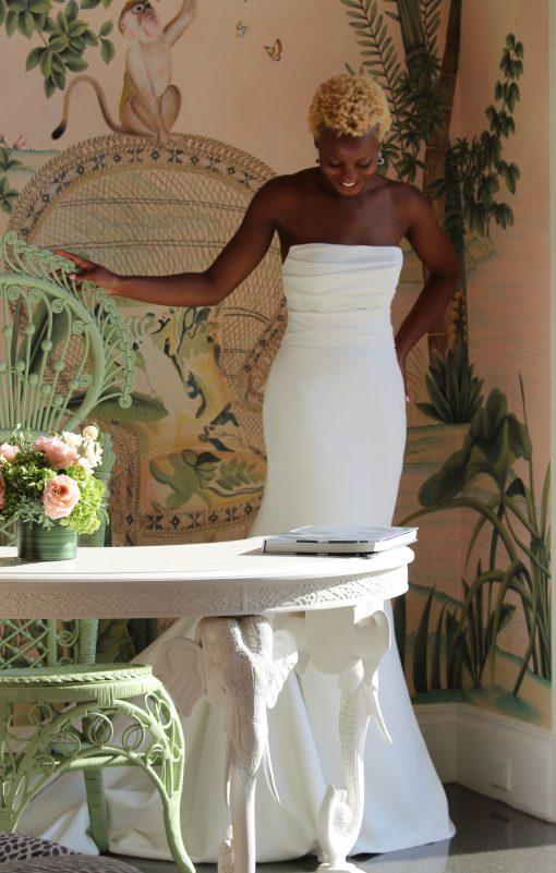 strapless wedding dress robert bullock