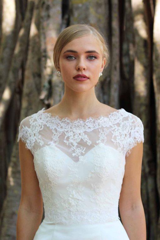 cap sleeve wedding jacket