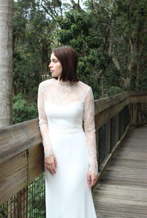 long sleeve lace wedding jacket
